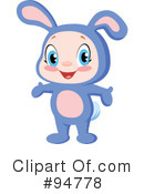 Royalty-Free (RF) Bunny Clipart Illustration #94778