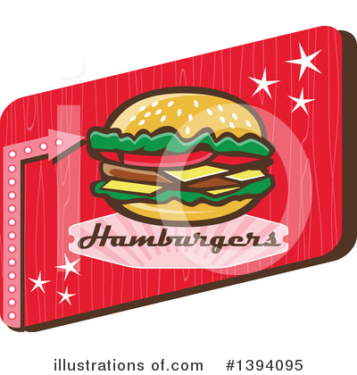 Burger Clipart #1394095 by patrimonio