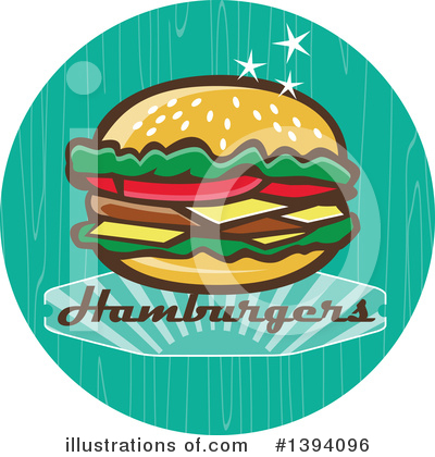 Royalty-Free (RF) Burger Clipart Illustration by patrimonio - Stock Sample #1394096