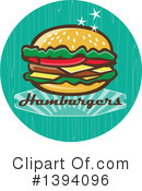 Royalty-Free (RF) Burger Clipart Illustration #1394096