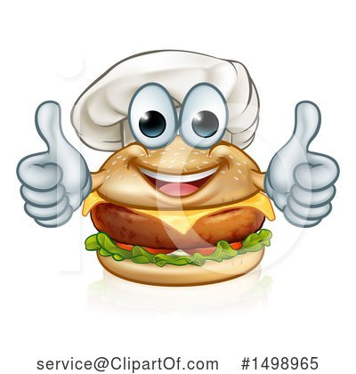 Chef Cheeseburger Clipart #1498965 by AtStockIllustration