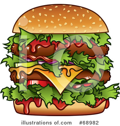 Royalty-Free (RF) Burger Clipart Illustration by TA Images - Stock ...