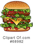Royalty-Free (RF) Burger Clipart Illustration #68982
