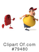 Royalty-Free (RF) Burger Man Clipart Illustration #79480