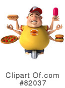 Royalty-Free (RF) Burger Man Clipart Illustration #82037