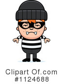Royalty-Free (RF) Burglar Clipart Illustration #1124688