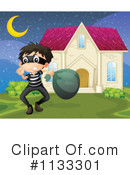 Royalty-Free (RF) Burglar Clipart Illustration #1133301