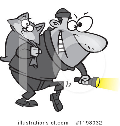 Royalty-Free (RF) Burglar Clipart Illustration by toonaday - Stock Sample #1198032