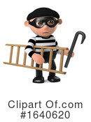 Burglar Clipart #1640620 by Steve Young