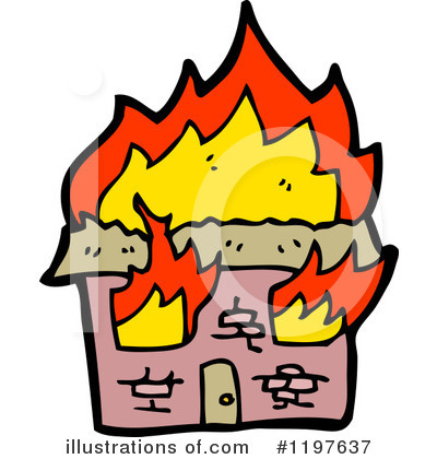 Burning House Clipart #1197637 - Illustration by ...
