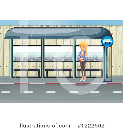 Royalty-Free (RF) Bus Clipart Illustration by Graphics RF - Stock Sample #1222502