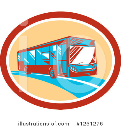 Royalty-Free (RF) Bus Clipart Illustration by patrimonio - Stock Sample #1251276