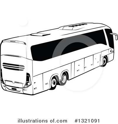 Royalty-Free (RF) Bus Clipart Illustration by dero - Stock Sample #1321091
