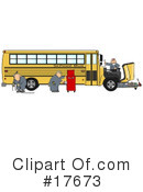 Royalty-Free (RF) Bus Clipart Illustration #17673