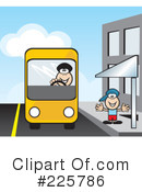 Royalty-Free (RF) Bus Clipart Illustration #225786