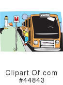 Royalty-Free (RF) Bus Clipart Illustration #44843