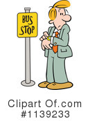 Royalty-Free (RF) Bus Stop Clipart Illustration #1139233