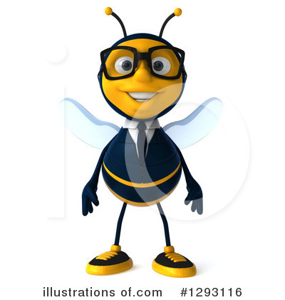 Royalty-Free (RF) Business Bee Clipart Illustration by Julos - Stock Sample #1293116