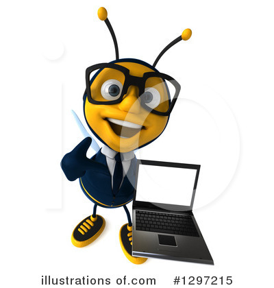 Royalty-Free (RF) Business Bee Clipart Illustration by Julos - Stock Sample #1297215
