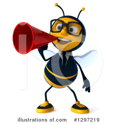 Royalty-Free (RF) Business Bee Clipart Illustration by Julos - Stock Sample #1297219