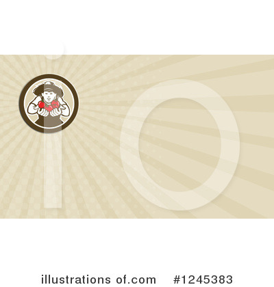 Royalty-Free (RF) Business Card Clipart Illustration by patrimonio - Stock Sample #1245383