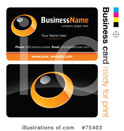 Business Card Design Clipart #75403 by beboy