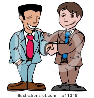 Handshake Clipart #11348 by AtStockIllustration