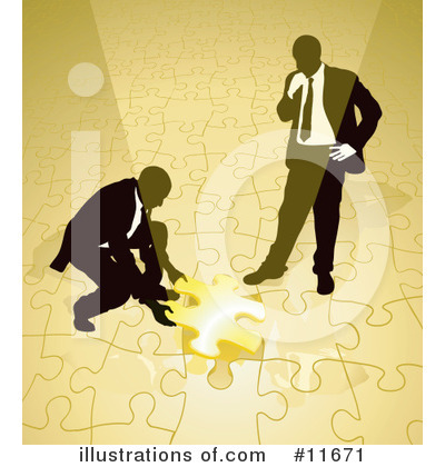 Puzzle Clipart #11671 by AtStockIllustration