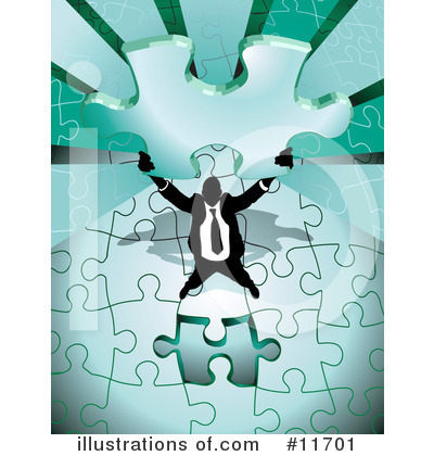Puzzle Clipart #11701 by AtStockIllustration