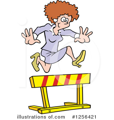 Business Woman Clipart #1256421 by Johnny Sajem