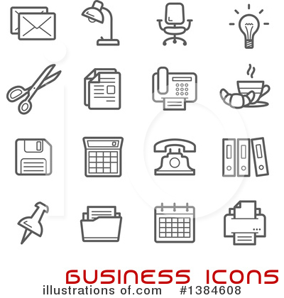 Icons Clipart #1384608 by Vector Tradition SM