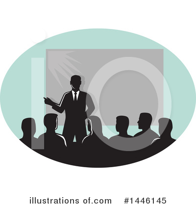Business Team Clipart #1446145 by patrimonio