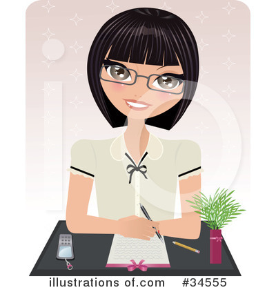 Businesswoman Clipart #34555 by Melisende Vector