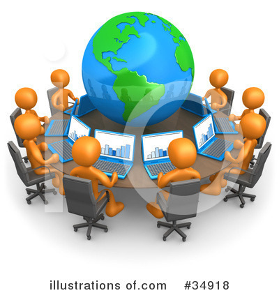 Royalty-Free (RF) Business Clipart Illustration by 3poD - Stock Sample #34918