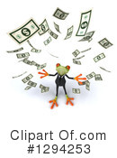 Business Frog Clipart #1294253 by Julos