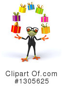 Business Frog Clipart #1305625 by Julos