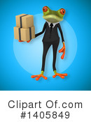 Business Frog Clipart #1405849 by Julos
