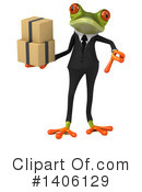 Business Frog Clipart #1406129 by Julos