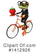 Business Frog Clipart #1412928 by Julos