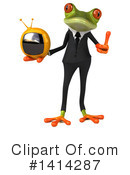 Business Frog Clipart #1414287 by Julos