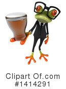 Business Frog Clipart #1414291 by Julos