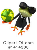 Business Frog Clipart #1414300 by Julos
