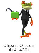 Business Frog Clipart #1414301 by Julos