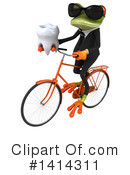 Business Frog Clipart #1414311 by Julos