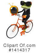 Business Frog Clipart #1414317 by Julos