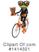 Business Frog Clipart #1414321 by Julos