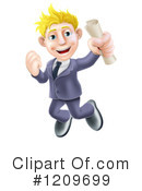 Business Man Clipart #1209699 by AtStockIllustration