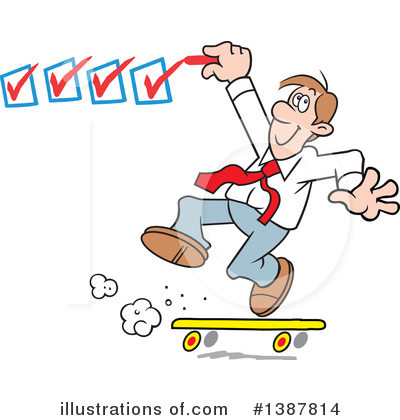 Skateboarding Clipart #1387814 by Johnny Sajem