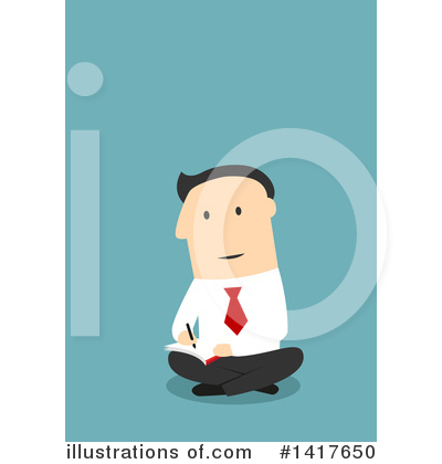 Businessman Clipart #1417650 by Vector Tradition SM