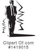Business Man Clipart #1419015 by David Rey